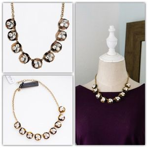 J.CREW Tortoise Crystal Statement Necklace